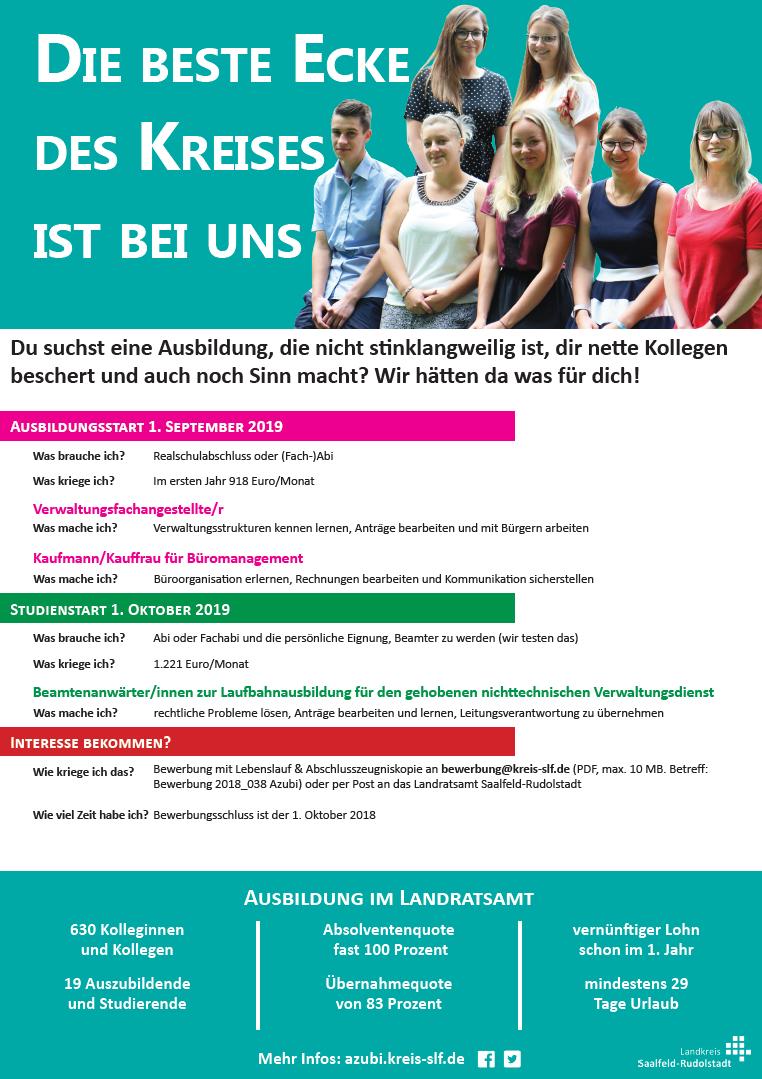 Saalfeld Rudolstadt Ausbildungstudium